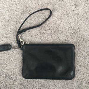 Black Coach Wristlet- like new!